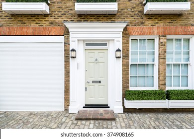 Facade of Typical House in London, UK
