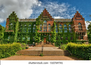 Facade of the university library in Lund (Sweden), HDR-technique