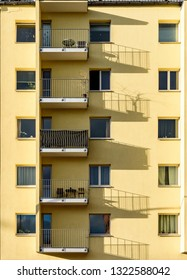 Facade view of appartments in Berlin ,Germany.
