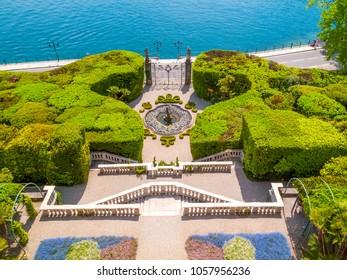 Facade of Villa Carlotta  at Tremezzo on lake Como Italy.