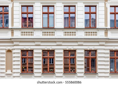A facade of a windowed building in Germany