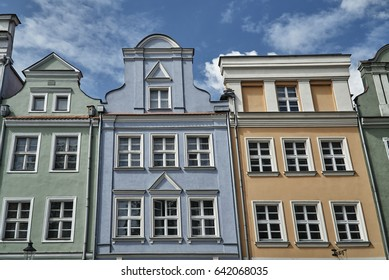 facades of historic houses on the Old Market Square in Poznan