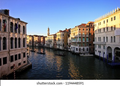 Facades of houses on the Grand Canal, Venice, Italy