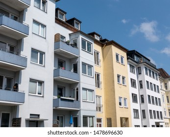 Facades of modern apartment buildings