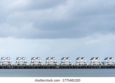 Facades of modern holiday apartements at the Baltic Sea, Schleswig-Holstein, Germany