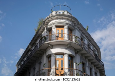Facades of old town in Panama