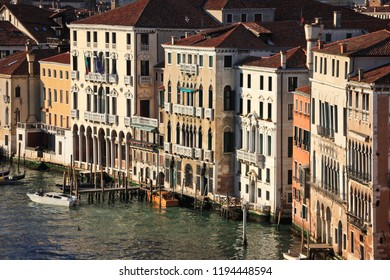 Facades of palazzo on the Grand Canal, Venice