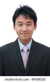 Face of asian business man with friendly smile
