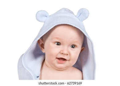 Face baby isolated on white background