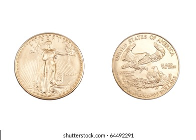 face and back of gold coin
