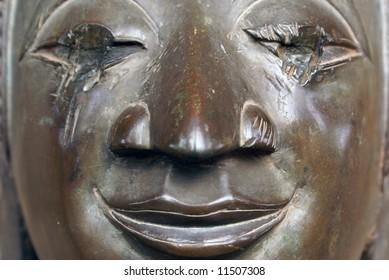 Face of Buddha in wat Phra Keo, Laos