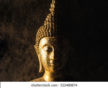 Face of Buddha.Buddha statue face close up at Wat Phra That Doi Suthep is a Theravada wat in Chiang Mai Province, Thailand. The temple is often referred to as Doi Suthep