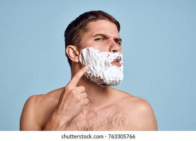 face care, man, razor