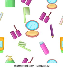 Face care pattern. Cartoon illustration of face care  pattern for web