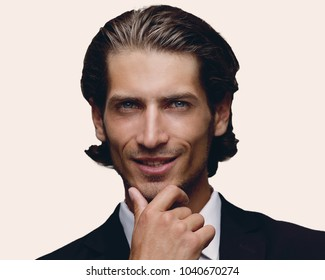 face of confident young businessman