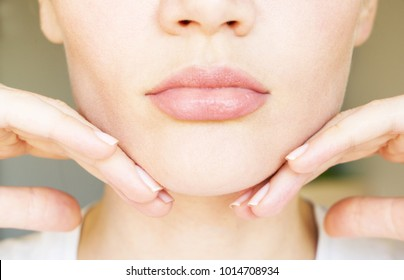 face contour. chin-line tightening.