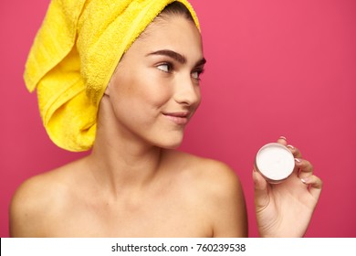 face cream, beauty, woman
