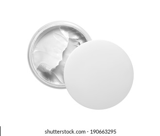 Face cream isolated on white