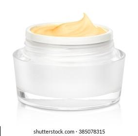 Face Cream on White Background