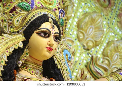 Face of durga thakur, Durga Thakur of Kolkata, traditional, culture, puja