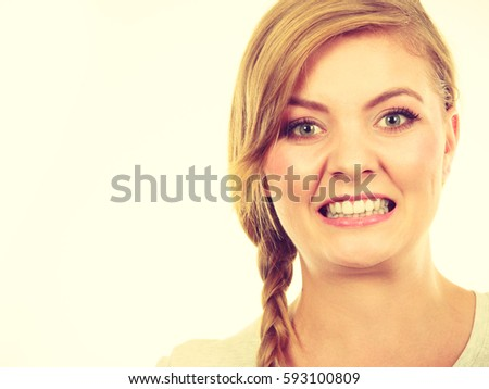 Face Expression Adolescence Problems Concept Teenage Stock Photo