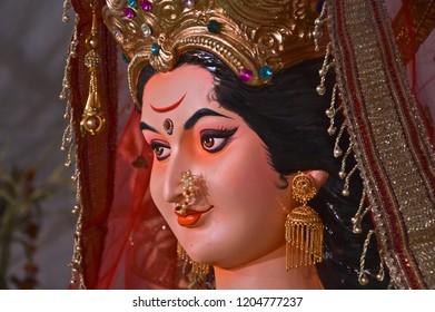 Face of Goddess, yavatmal, october 2018, Maharashtra, India