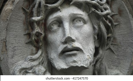Face of Jesus Christ (fragment of antique statue)