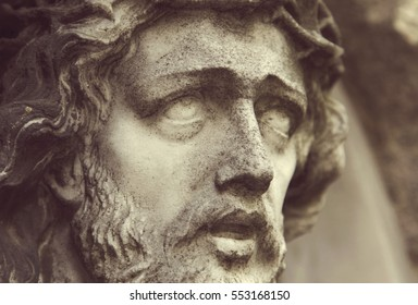 Face of Jesus Christ (fragment of statue)