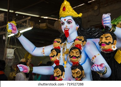 Face Kali Idol on Occasion of Kali Puja festival