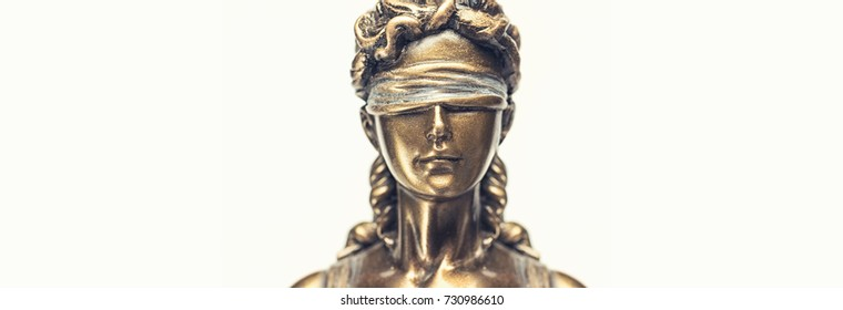 Face of lady justice or Iustitia - The Statue of Justice
