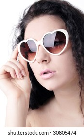 face make-up skin eye fashion beauty girl spectacled