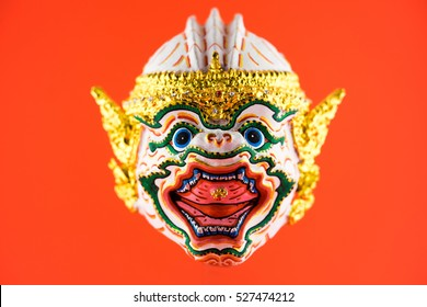 Face mask of Hanuman , Thai traditional costume and culture