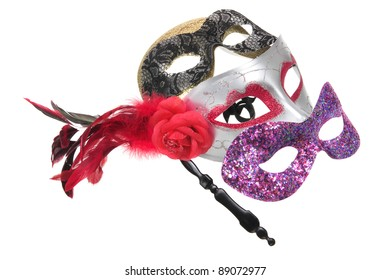 Face Masks on White Background