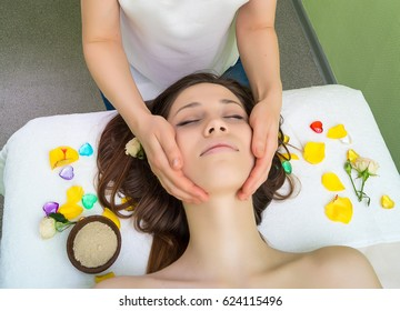 Face massage for woman