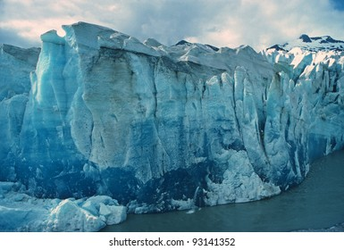 The face of the Mendenhall Glacier in Alaska