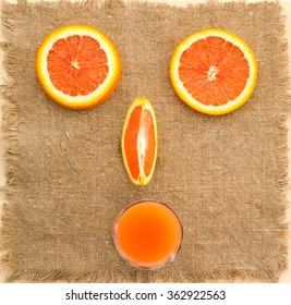 Face of the orange slices