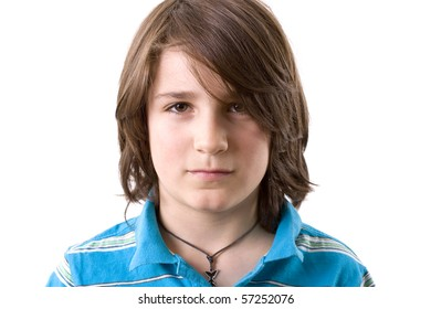 Face Portrait of a strong young boy