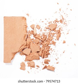 face powder isolated on white