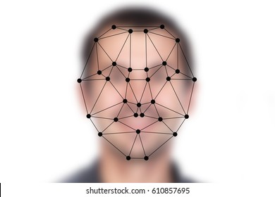 Face recognition on polygonal grid is constructed by the points. Biometric verification on blurred face