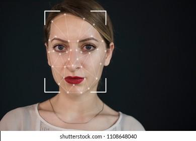 Reconnaissance faciale d'une femme