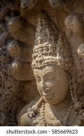 Face of statue in Anuradhapura