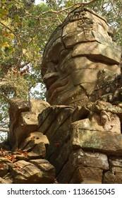 Face tower of Bayon Temple, Angkor Thom,  Cambodia