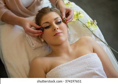 face treatment in spa studio - hotstones