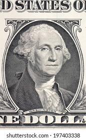 The face of Washington the dollar bill