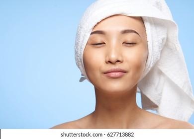face woman asian portrait skin