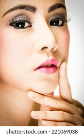 face of woman look for beauty face