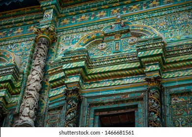 Faced on the outer facade with majolica tiles Teremok was built in the late 17th century by architect Larion Kovalev, tiles and carved columns made Osip Elders with their sons.