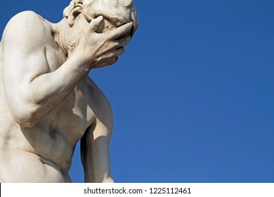 Facepalm statue in Paris, France