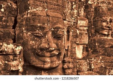 Faces at Bayon temple