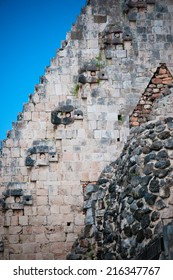 Faces of Chaac - god of rain in Uxmal, Mexico